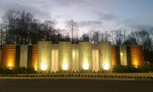 71Mikvah view evening lighting